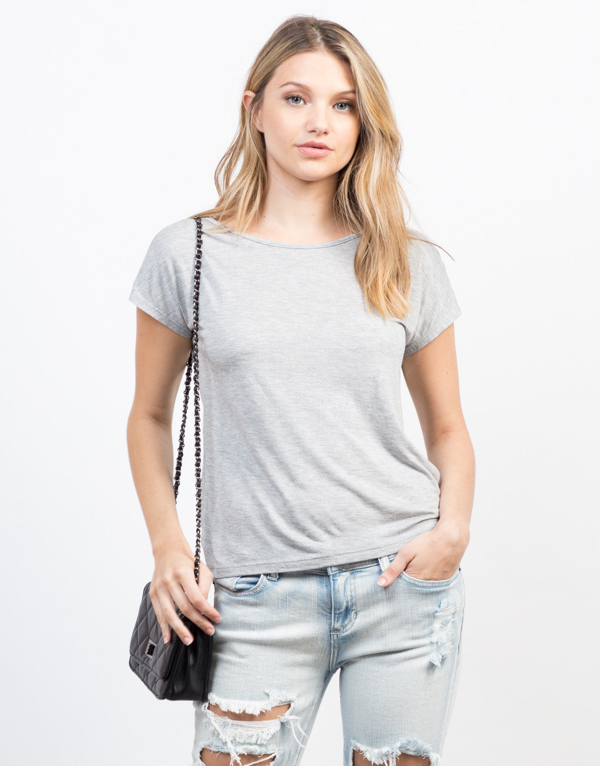 Front View of Feelin' T-Strapped Tee