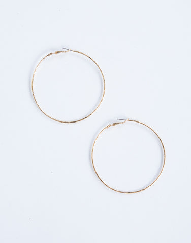 Feelin' Textured Hoops