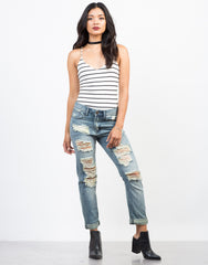 Feelin' Torn Up Boyfriend Jeans