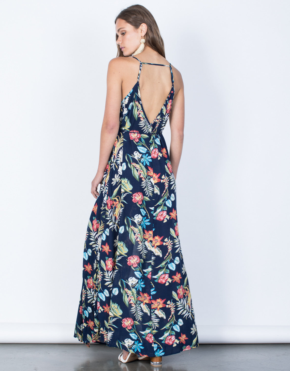 Back View of Feelin' Tropical Dress