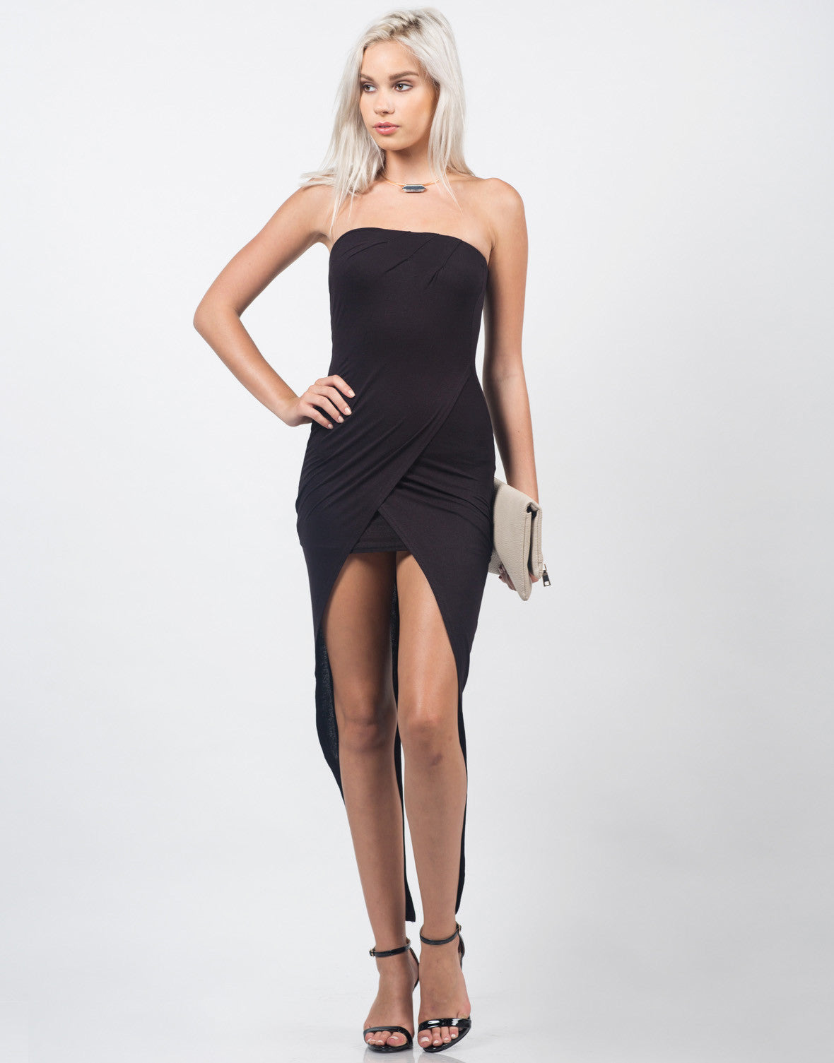 Front View of Fishtail Tube Dress