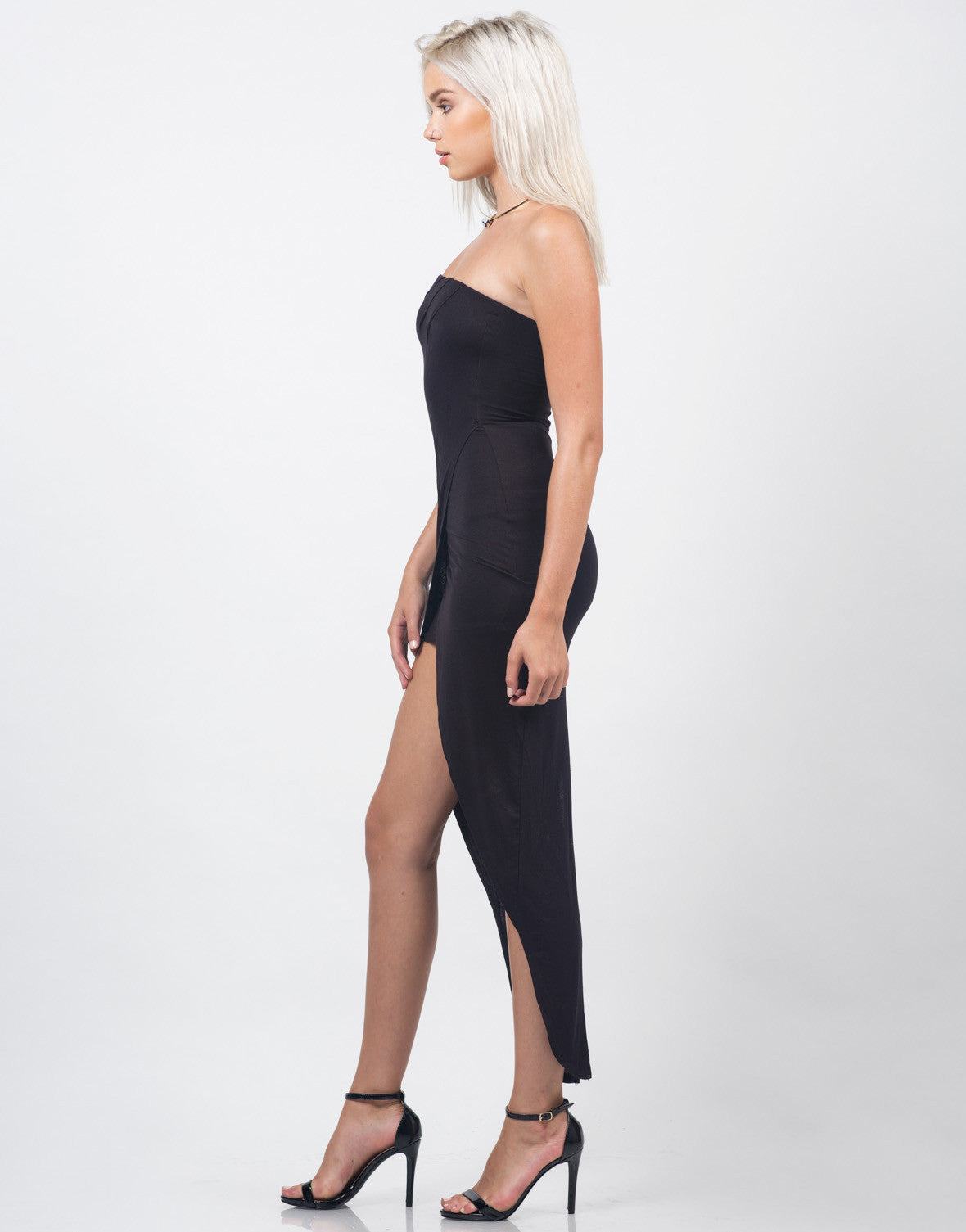 Side View of Fishtail Tube Dress
