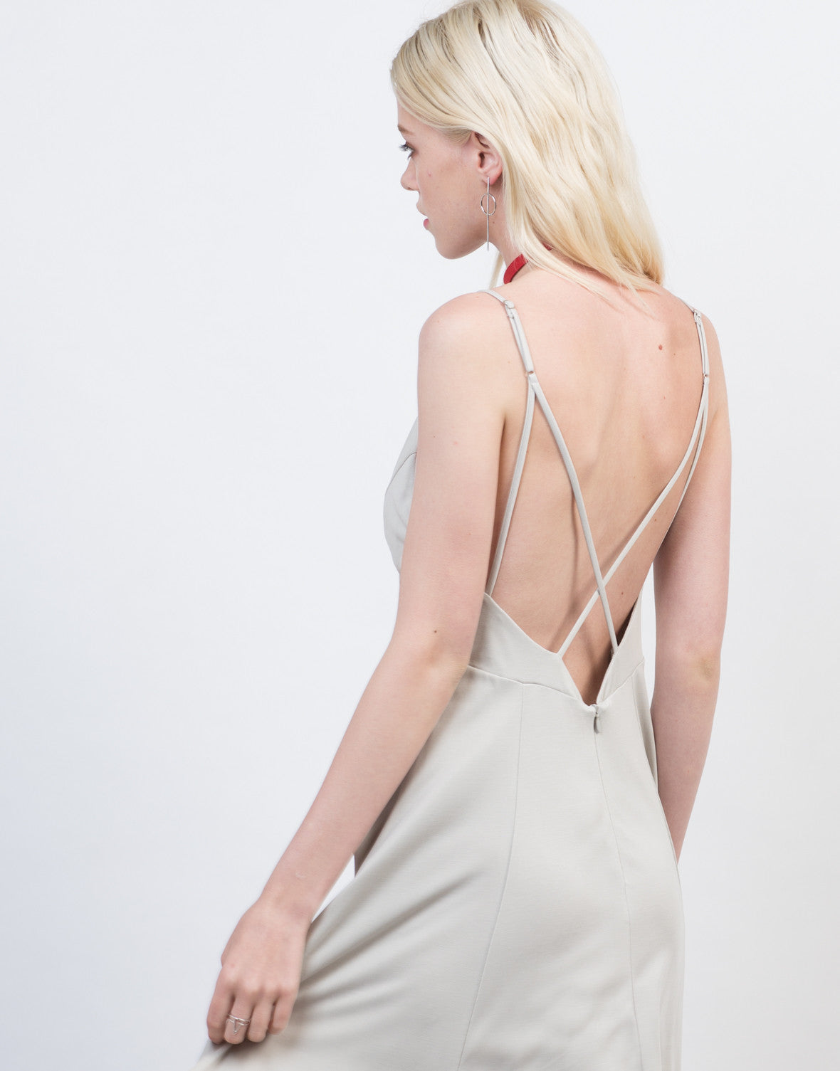 Detail of Fit and Flare Strappy Dress