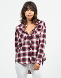 Front View of Flannel Checker Shirt