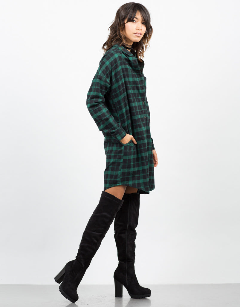 Flannel Shirt Dress - 2020AVE
