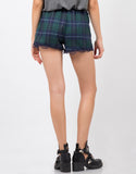 Back View of Flannel Shorts