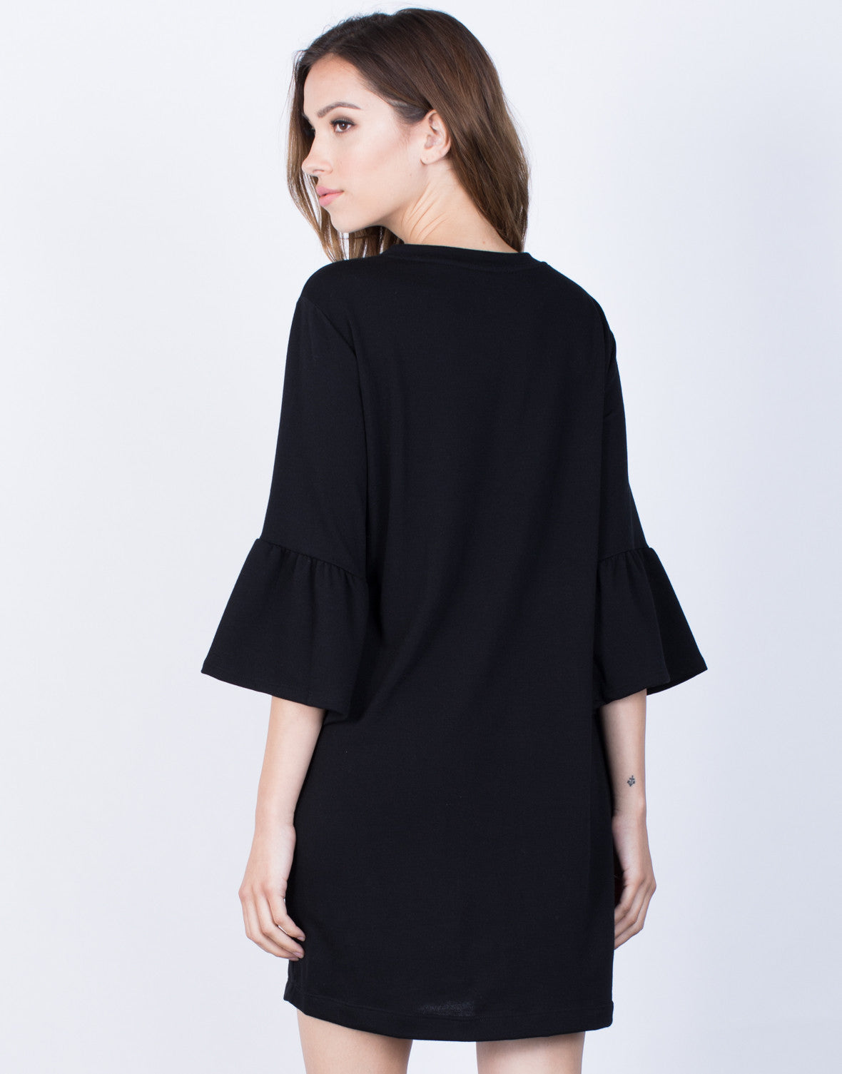 Back View of Flare the Bell Dress