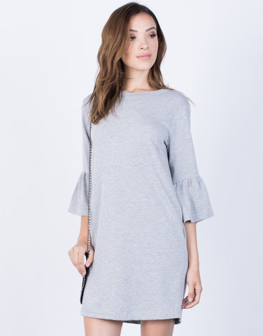 Front View of Flare the Bell Dress