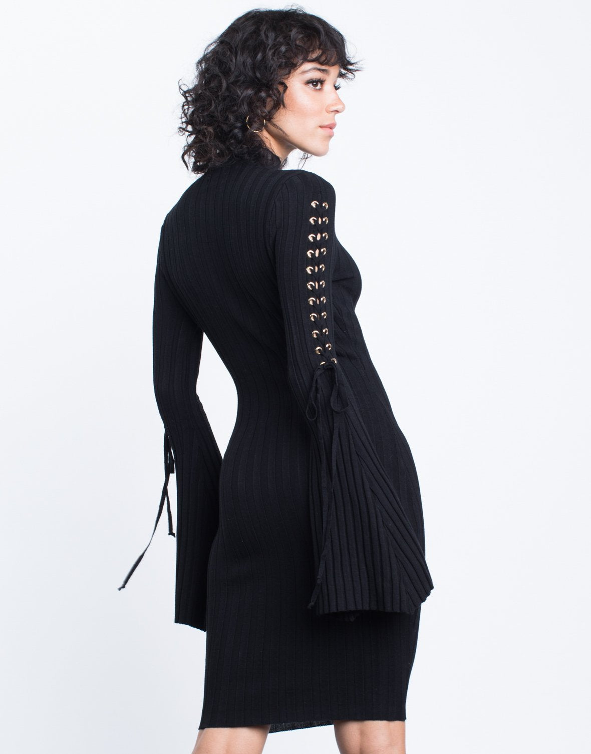 Flared Sleeves Sweater Dress - 2020AVE