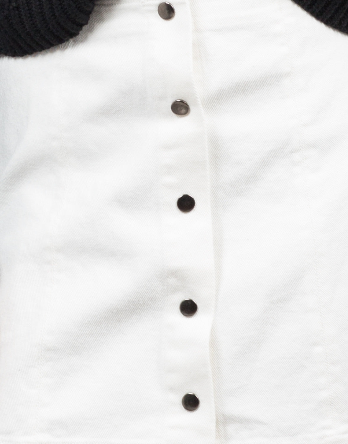 Detail of Flared Button Down Skirt