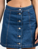 Detail of Flare Denim Skirt