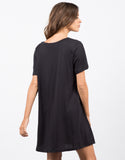 Back View of Flared T-Shirt Dress