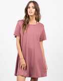 Front View of Flared T-Shirt Dress