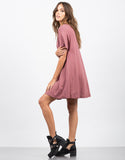 Side View of Flared T-Shirt Dress