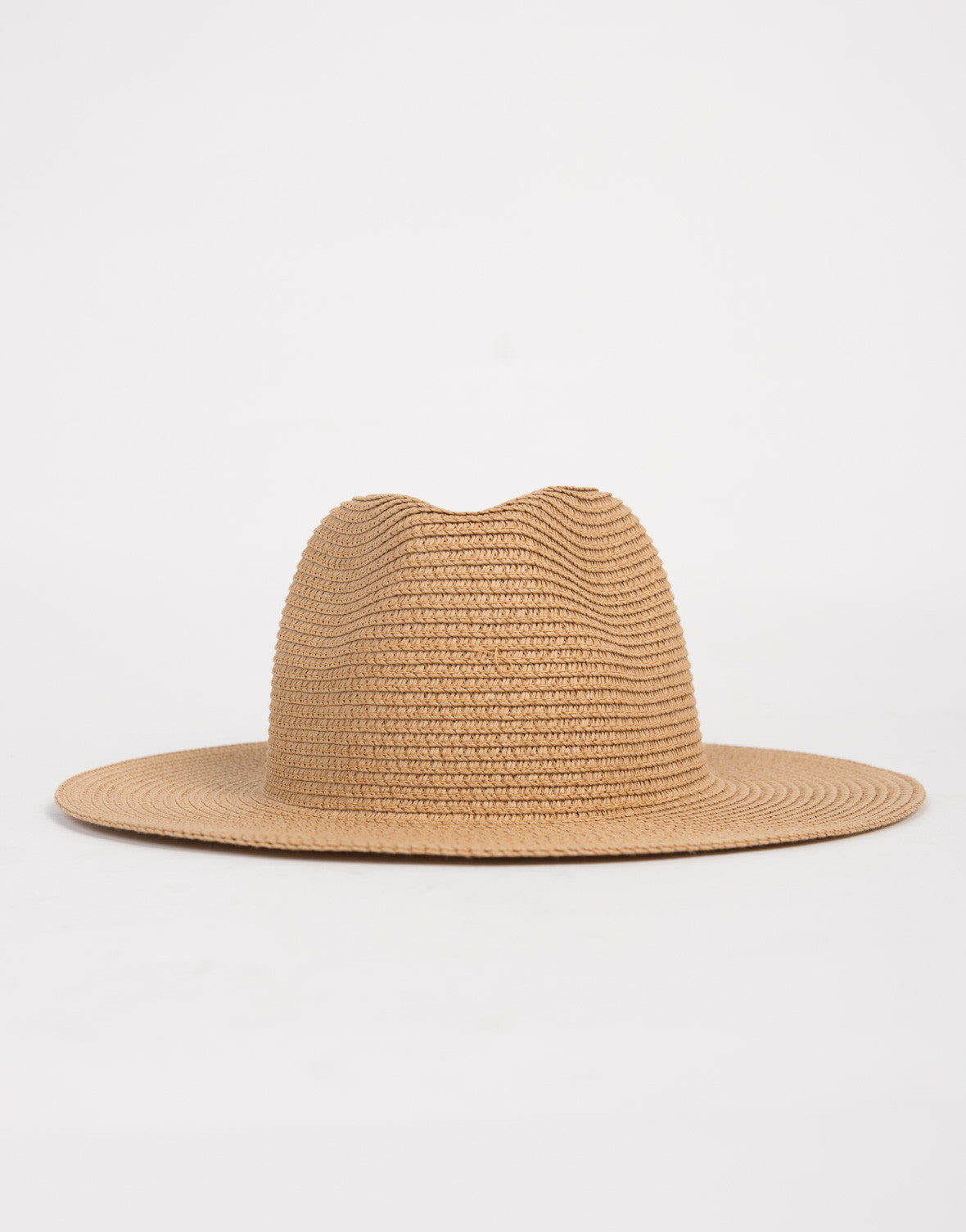 Flat Brim Straw Hat - 2020AVE