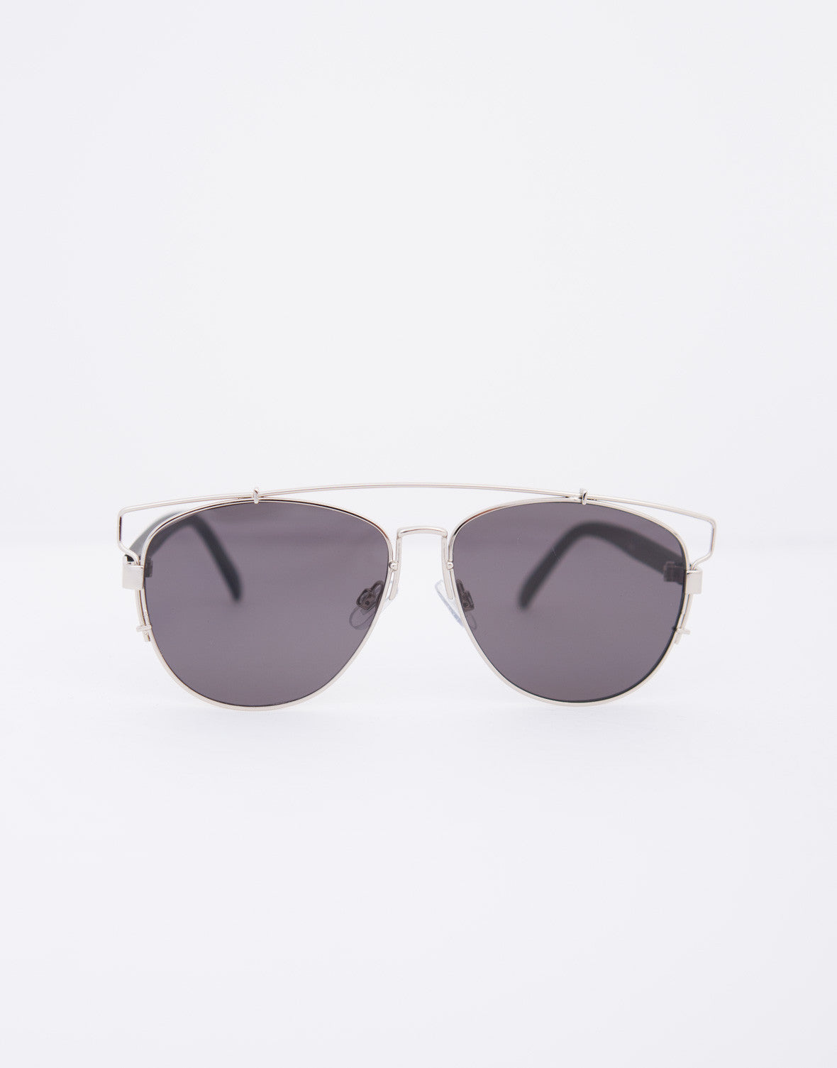 Flat Framed Bar Sunglasses