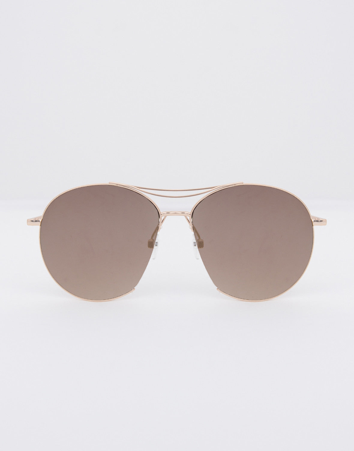Flat Retro Mirrored Sunglasses