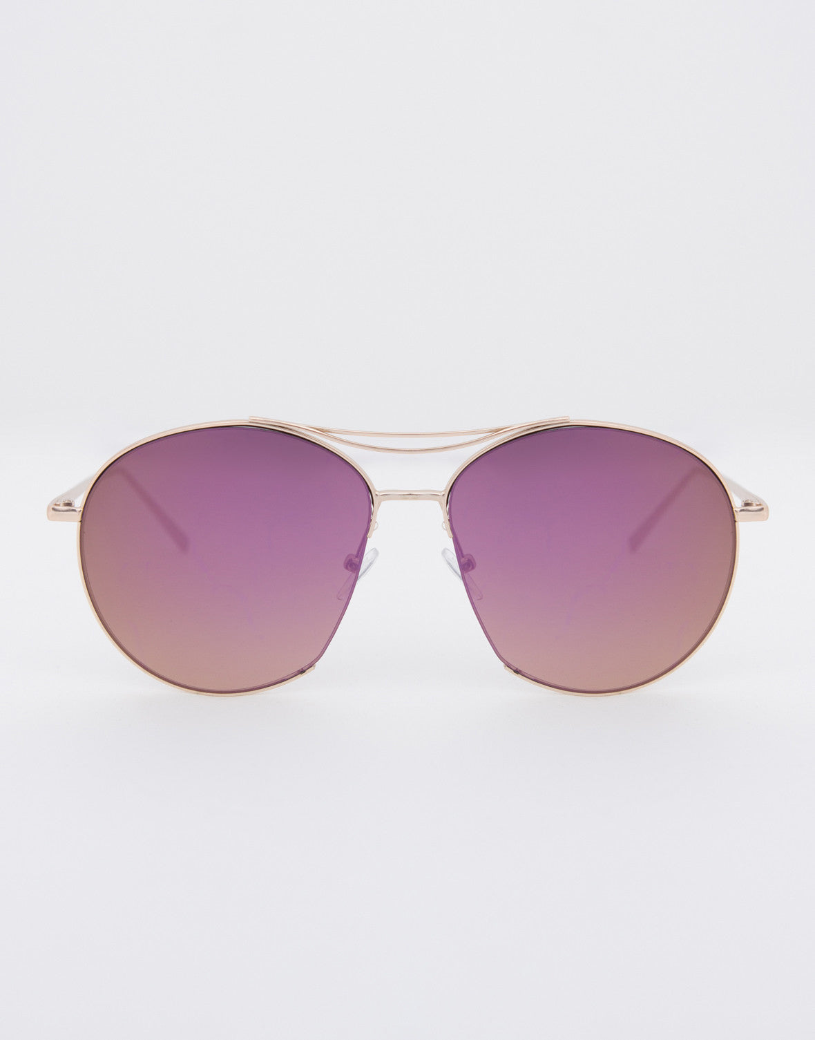 Flat Retro Mirrored Sunglasses - 2020AVE