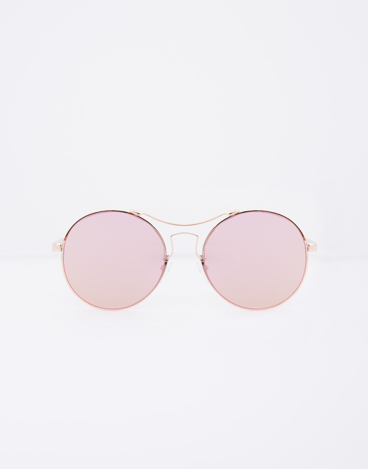Flat Round Mirrored Sunnies