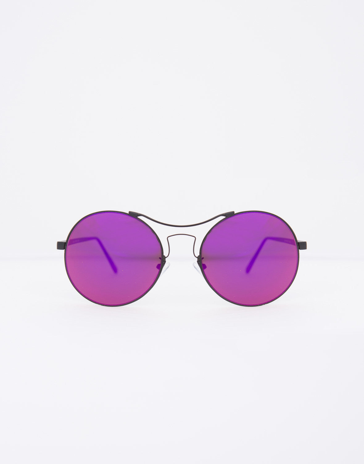 Flat Round Mirrored Sunnies - 2020AVE