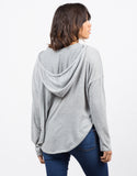 Back View of Fleece Sweater Hoodie