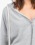 Detail of Fleece Sweater Hoodie