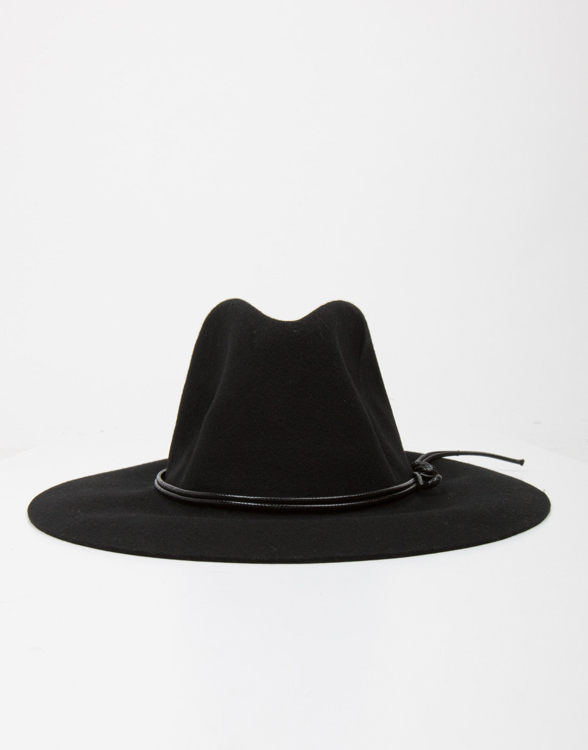 Front View of Floppy Fedora Hat