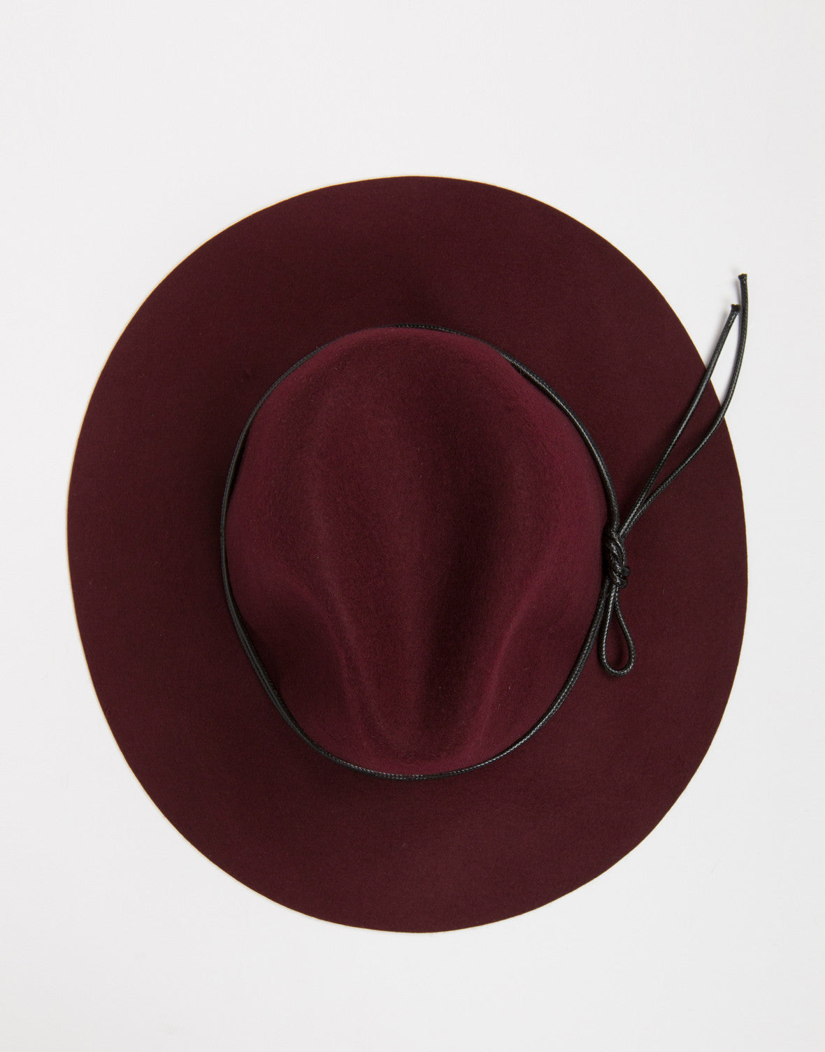 Top View of Floppy Fedora Hat