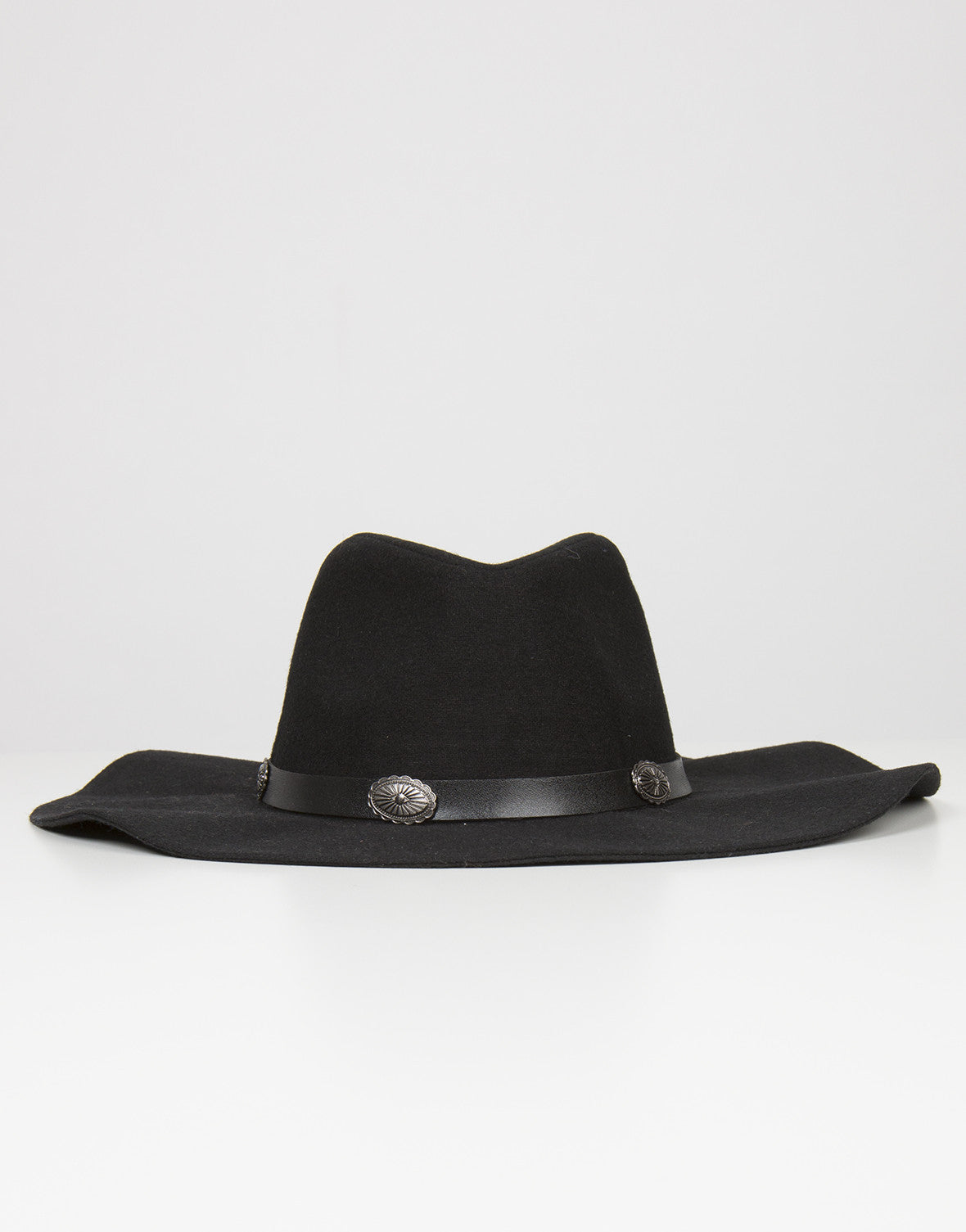 Front View of Floppy Western Hat