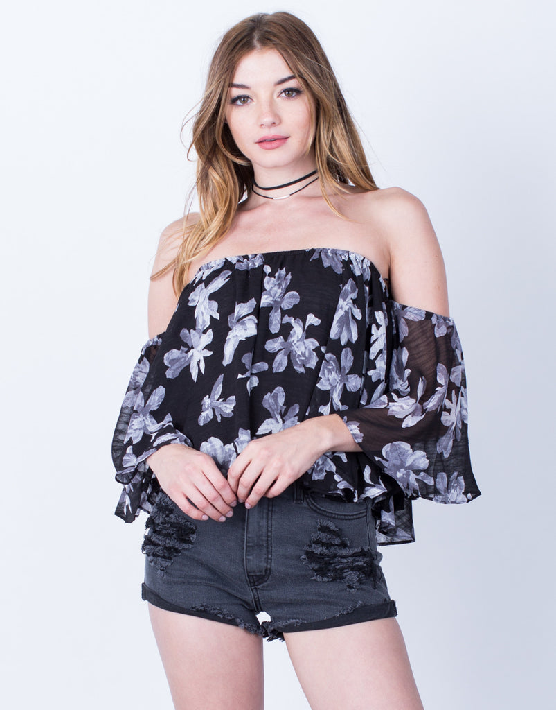 Floral Cropped Blouse - 2020AVE