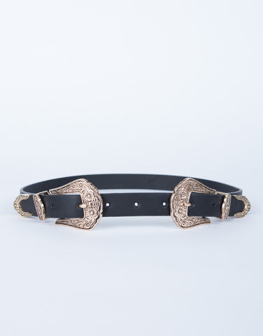 Floral Buckled Belt
