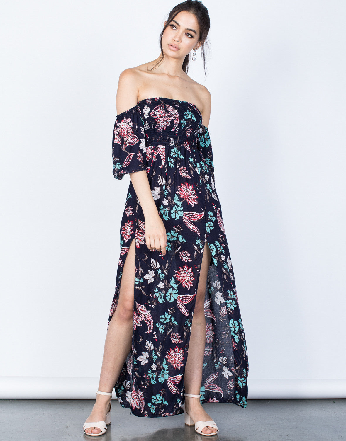 Front View of Floral for Days Dress