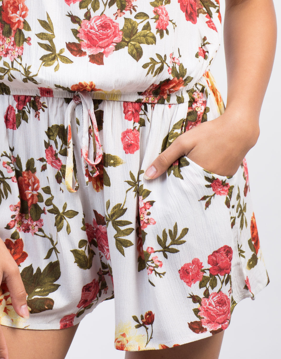 Detail of Floral Gauze Romper
