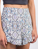 Detail of Floral Printed Ruffle Shorts