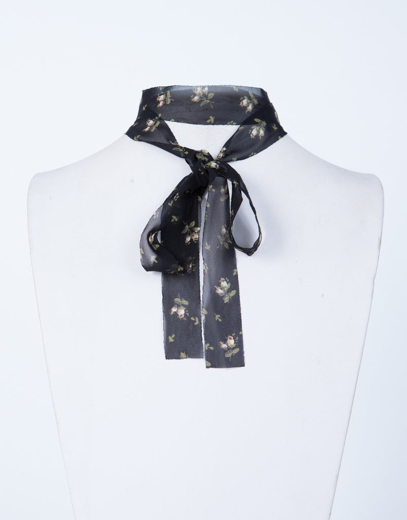 Floral Tie Choker