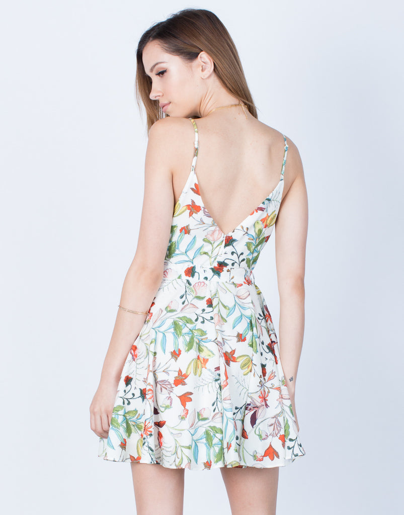 Back View of Floral Vacay Dress