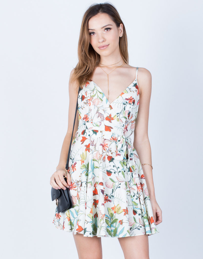 Front View of Floral Vacay Dress