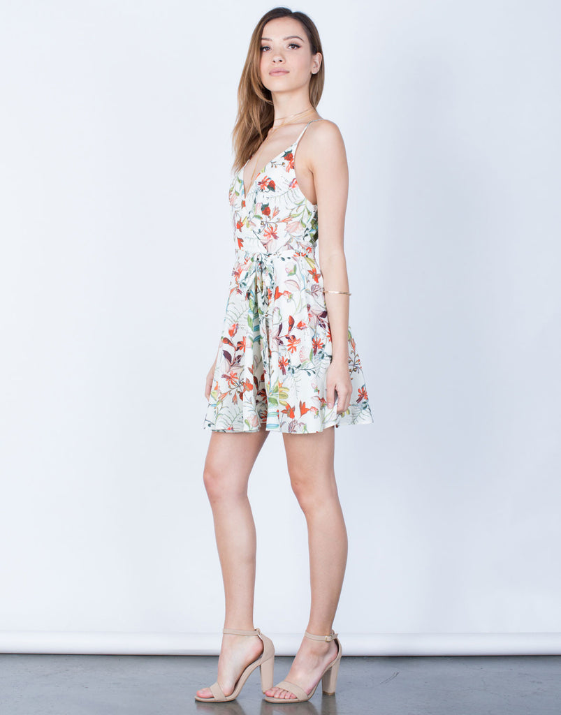 Side View of Floral Vacay Dress
