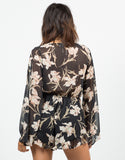 Back View of Floral Chiffon Romper