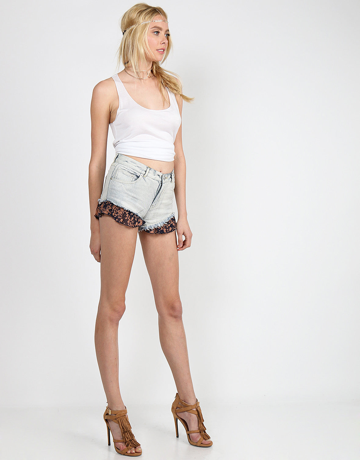 Floral Fever Denim Shorts