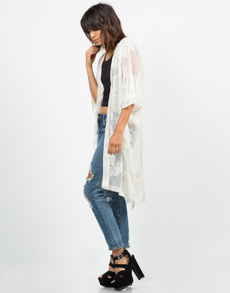 Floral Lace Cardigan - 2020AVE