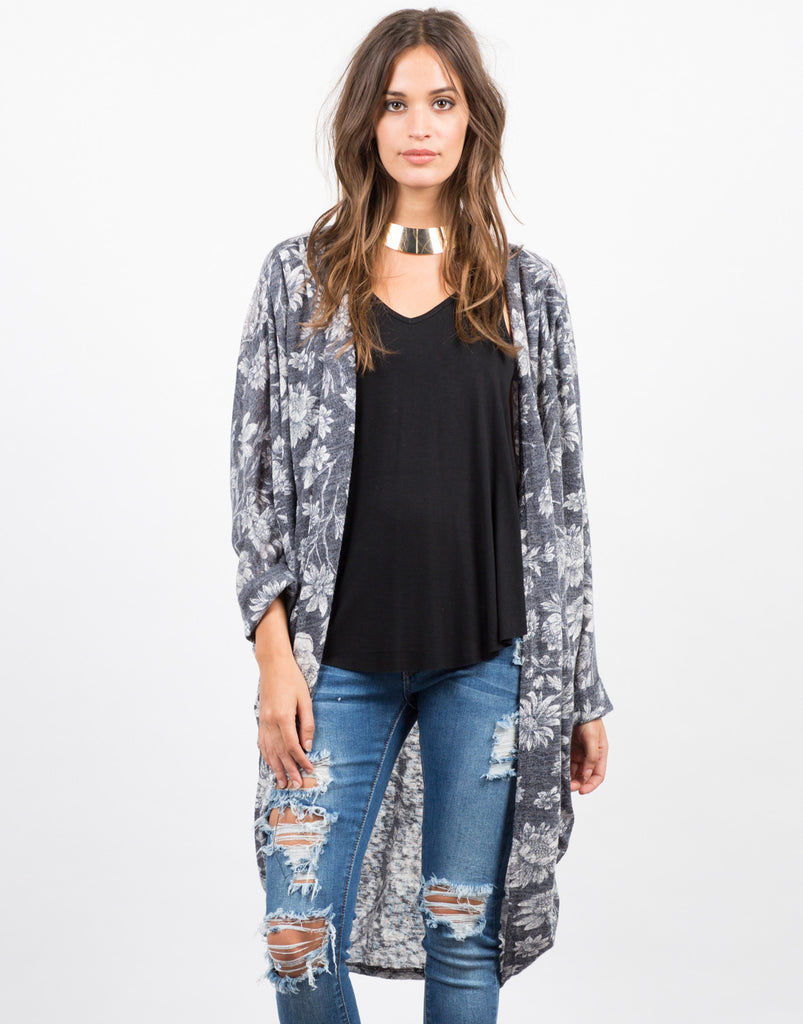 Floral Sweater Cardigan - 2020AVE