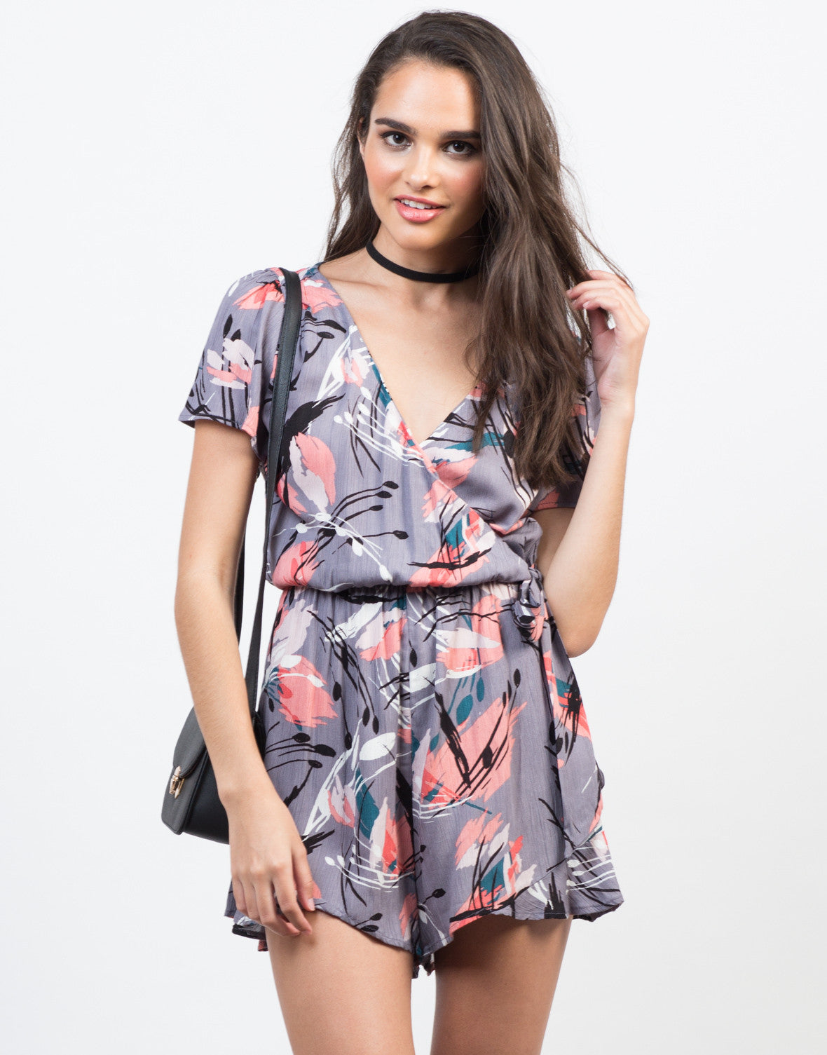 Front View of Flow into Floral Romper