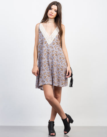 Front View of Flow into Florals Dress