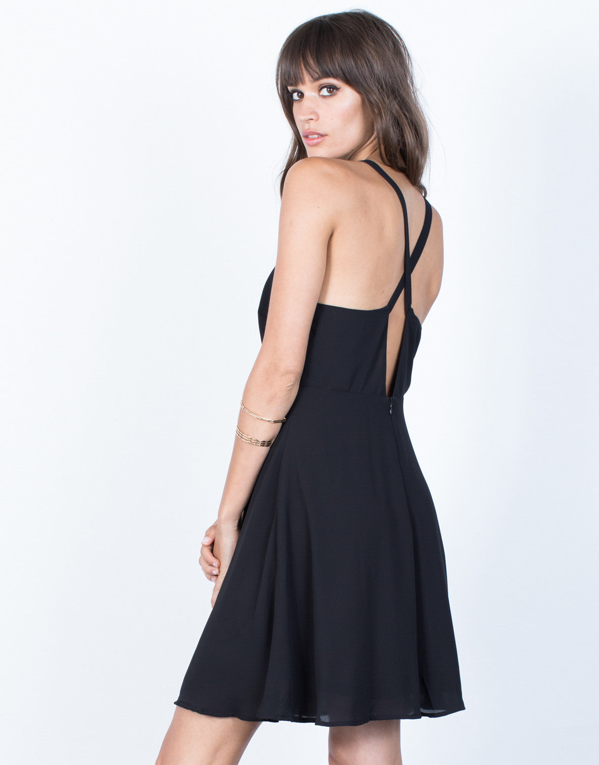 Back View of Flow into Night Dress