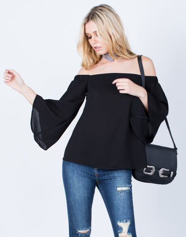 Front View of Flow Off-the-Shoulder Top