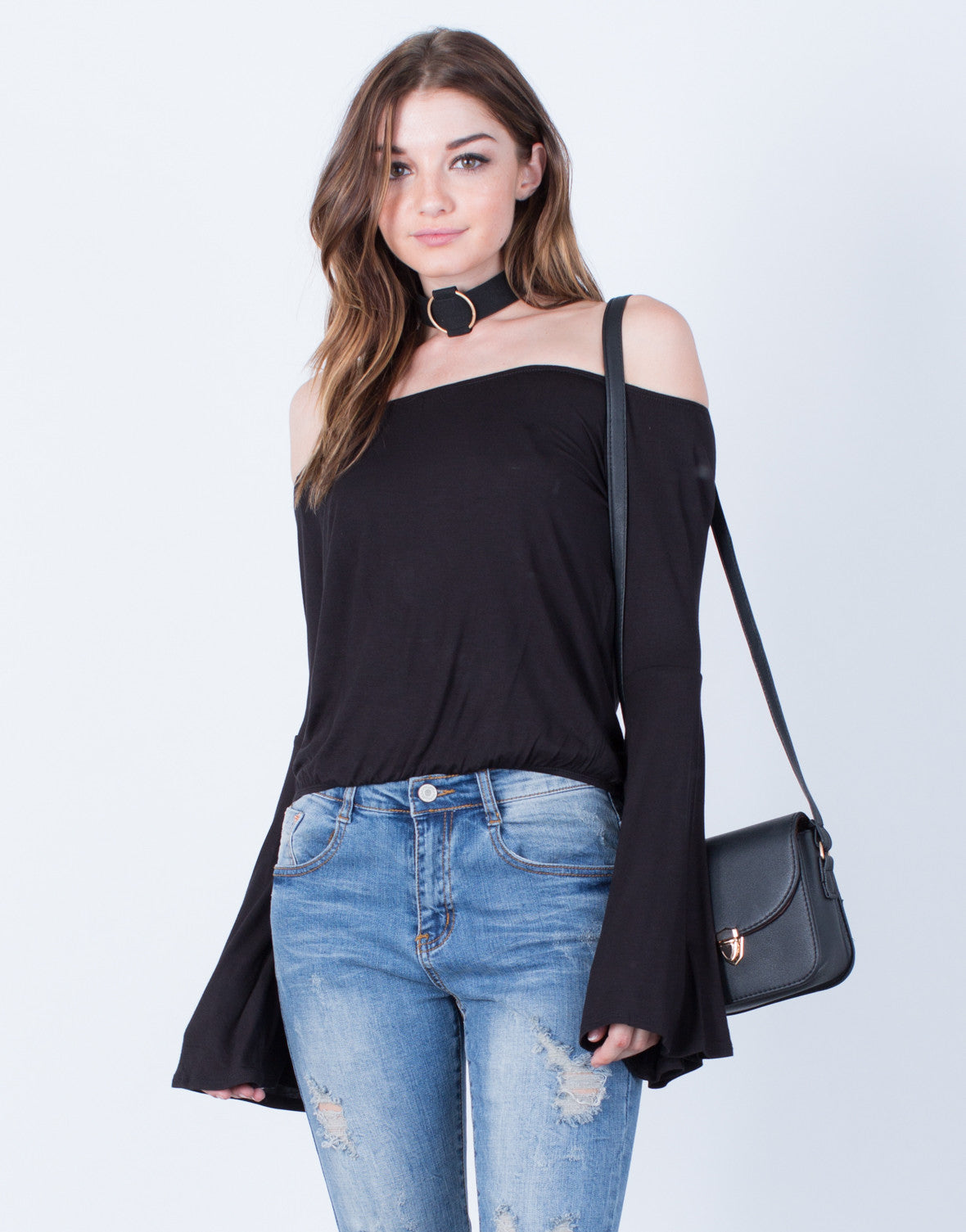 Flowy Bell Sleeved Top - 2020AVE