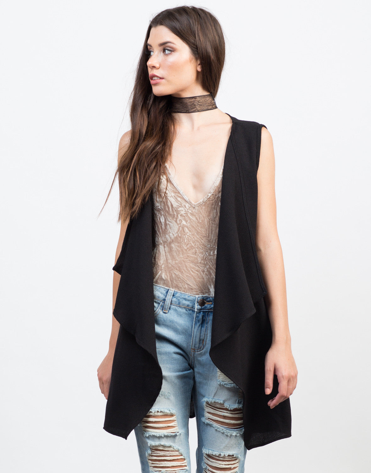 Flowy Belted Vest - 2020AVE