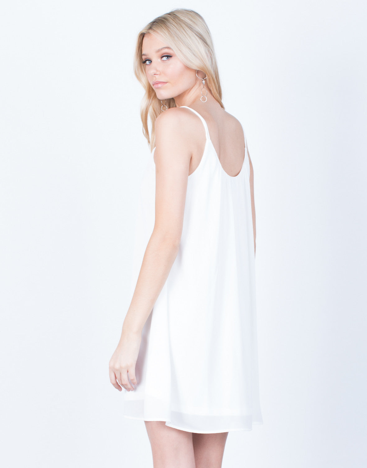 Back View of Flowy Cami Dress