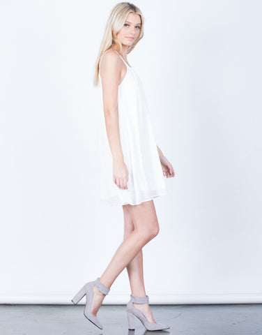 Side View of Flowy Cami Dress